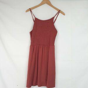 Copper Key Tank Midi Dress Sleeveless Stretch Sz S